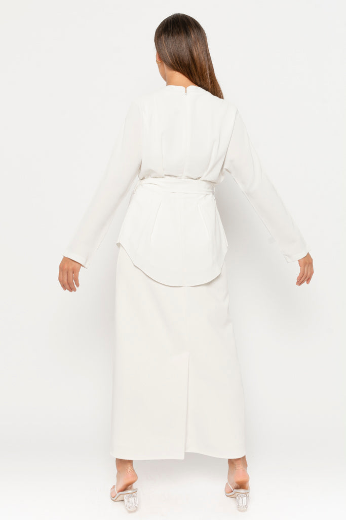 Anna Co-ord top - white