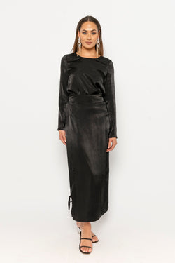 Xena Co-ord black wrap skirt