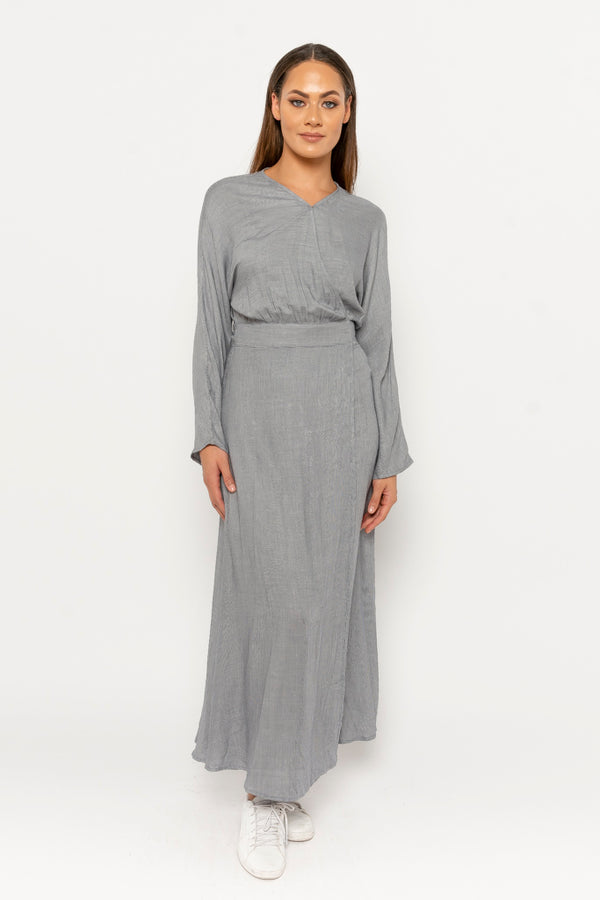Adina dress grey checkered