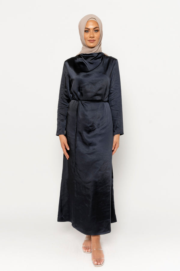 Halima dress navy