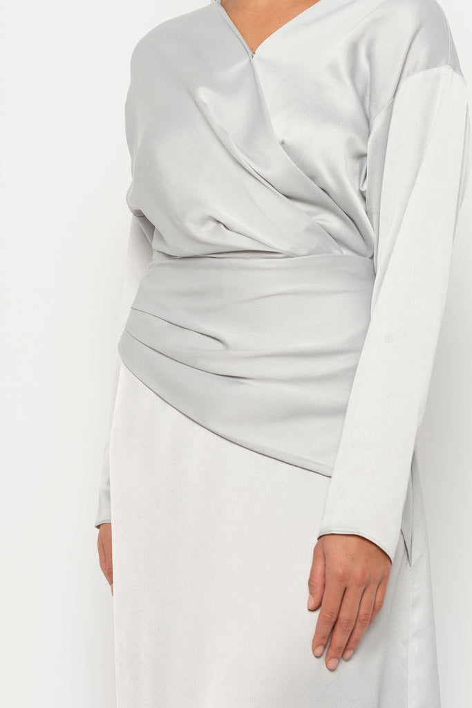 Dana dress silver grey