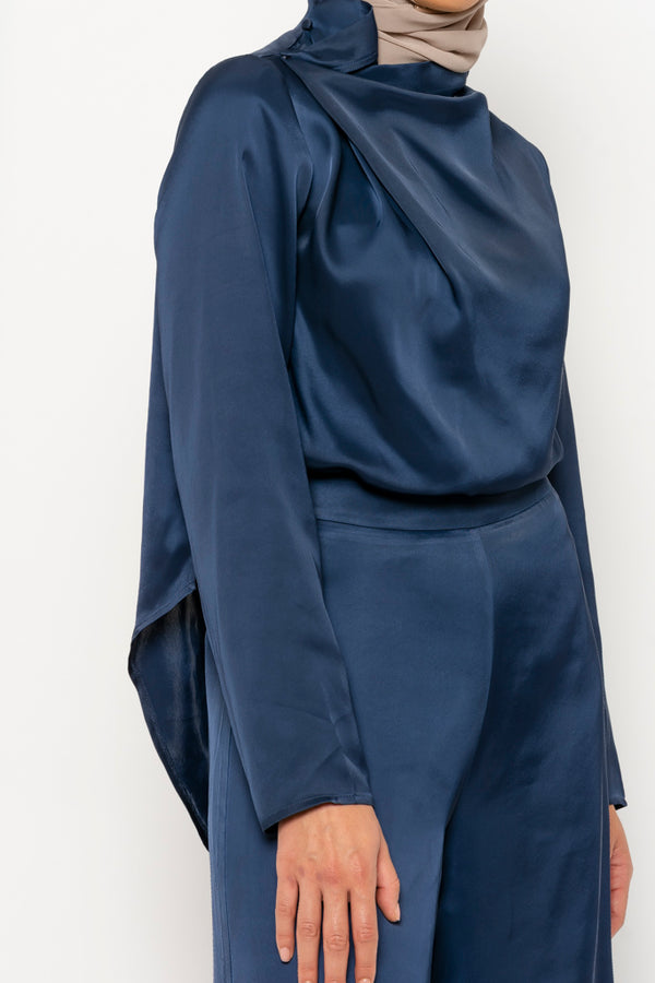 Noor Co-ord navy top