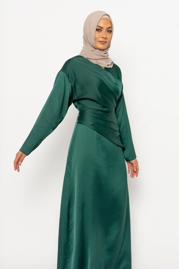 Dana dress emerald green