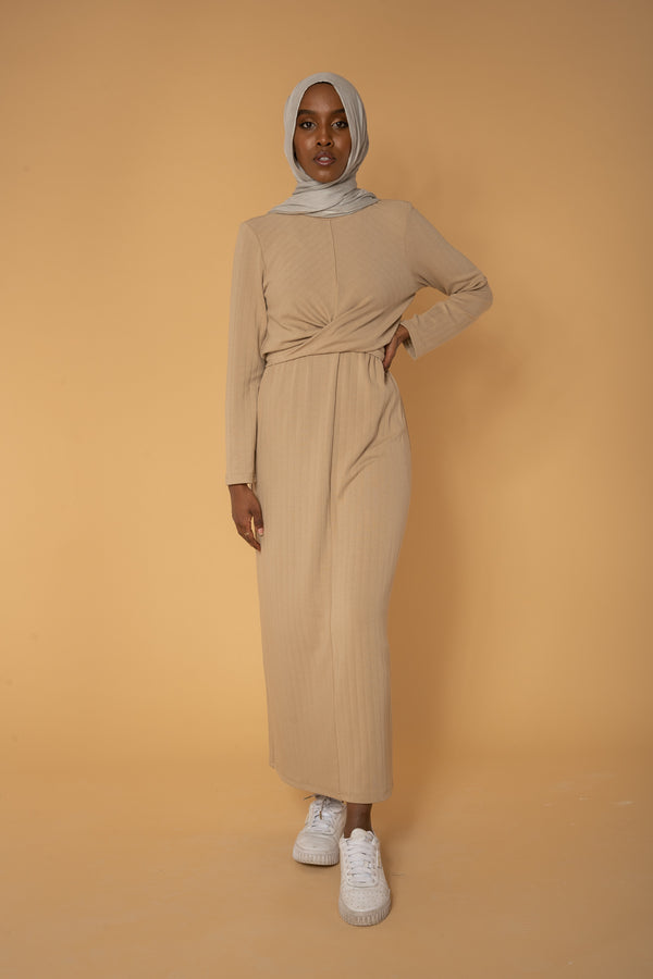'Evening Breeze' Soft Tie Dress