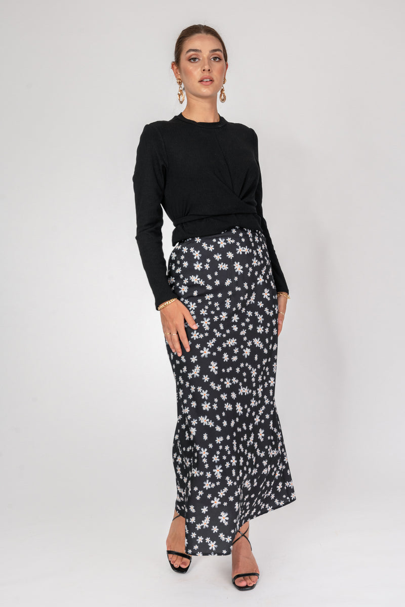 'Own it' Floral Skirt - Daisy Print
