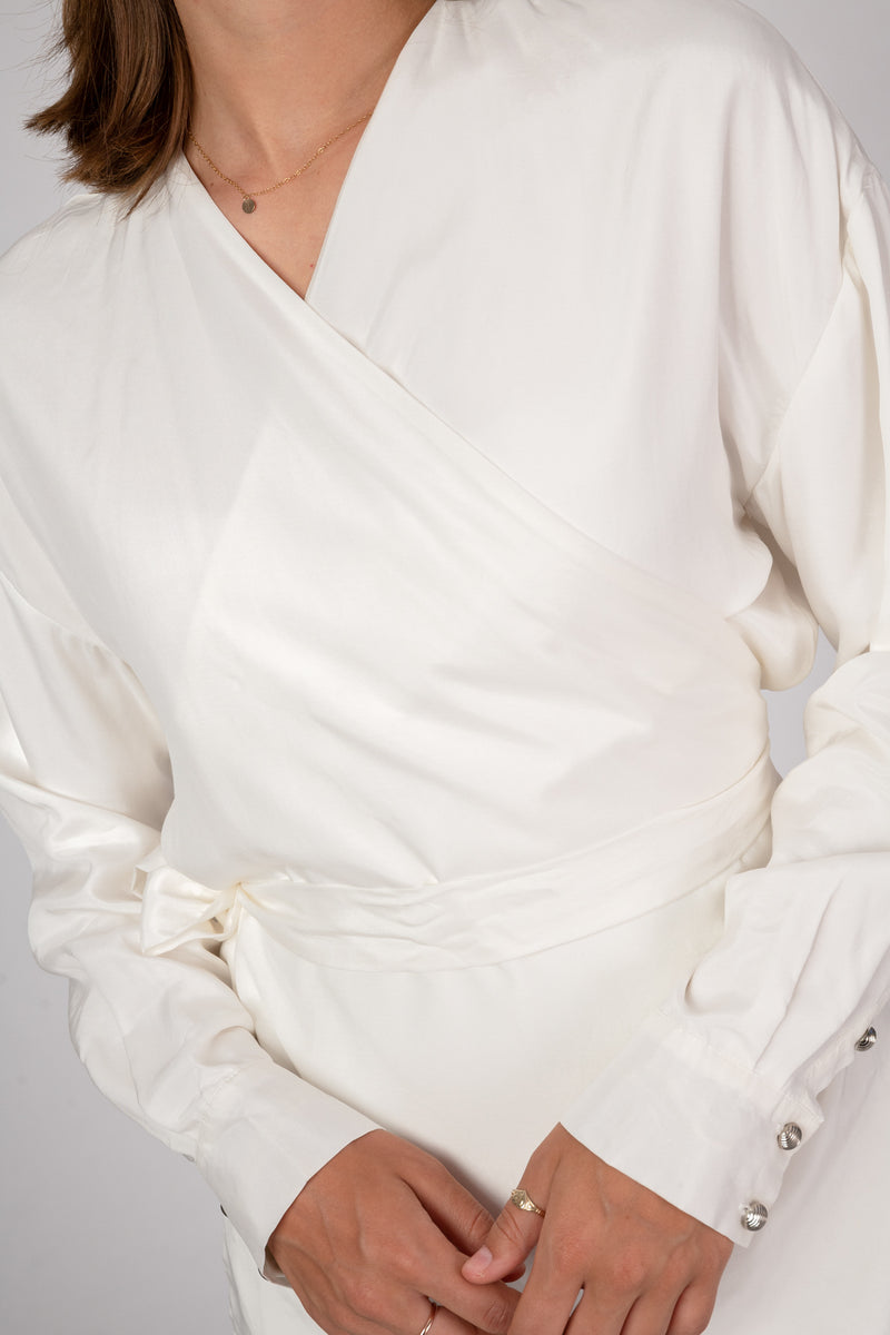 'Endless Summer' White Wrap Top