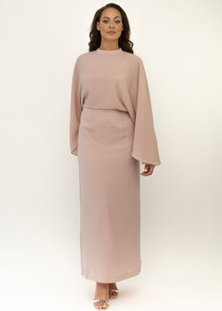 'Hamida' batwing dress PINK