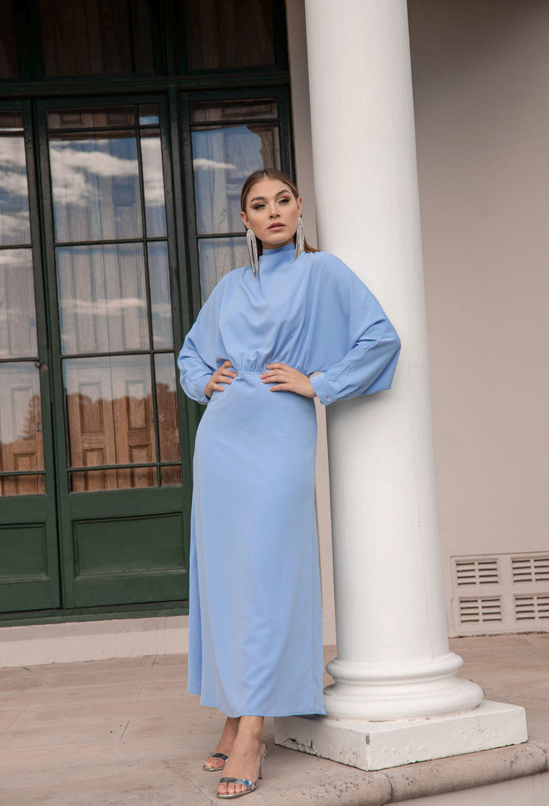 AVAILABLE FROM 11/05 'Glamour' Maxi Dress - Sky Blue