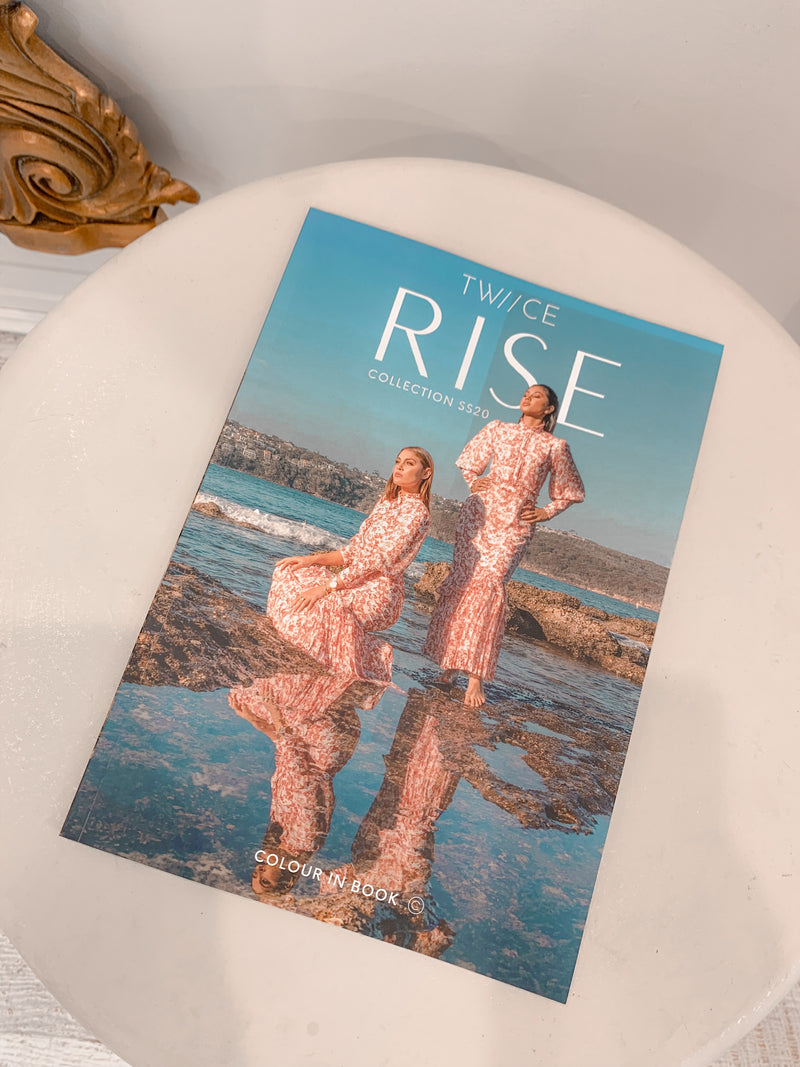 'RISE' Collection colour in Lookbook