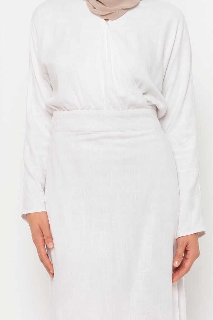 Adina white wrap dress