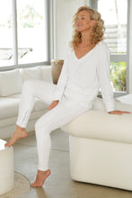 Load image into Gallery viewer, Luccia White French Terry Tracksuit Set 1