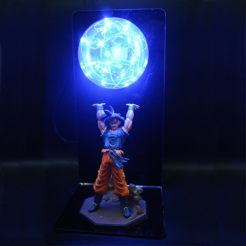 15cm Dragon Ball Goku with Multi color Spirit Bomb