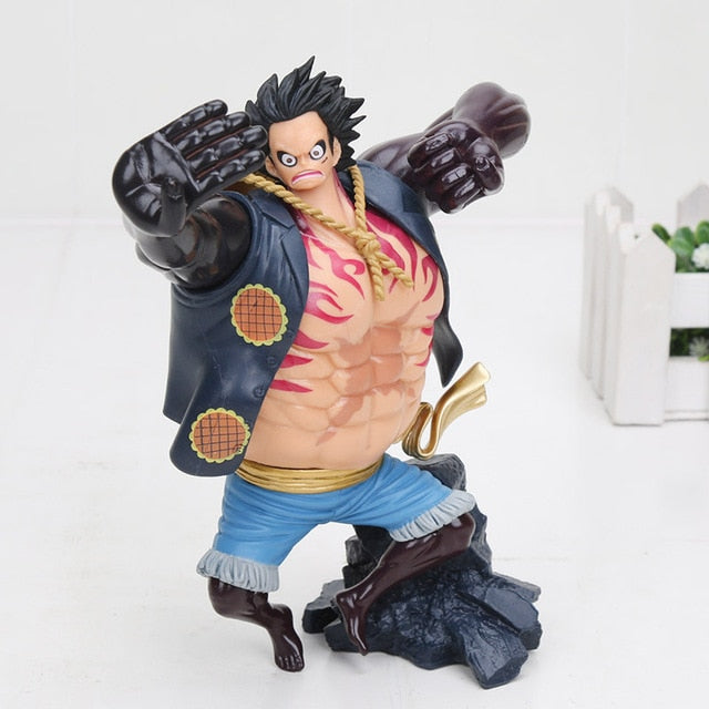 13cm Nightmare Luffy, Gear 4th Luffy, Zoro and Chopper