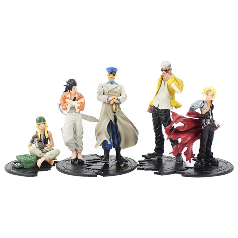 5.5-12.5cm Fullmetal Alchemist Set of 5 Action Figures