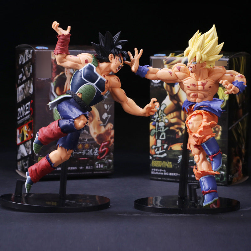 23cm Super Saiyan Goku and  Bardock set of 2