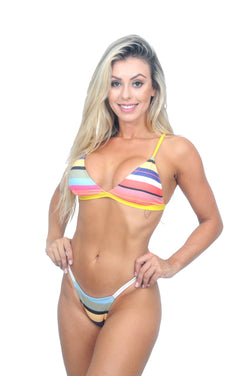 Biquini Fire Beach Rainbow - Fashion Bikini Rio