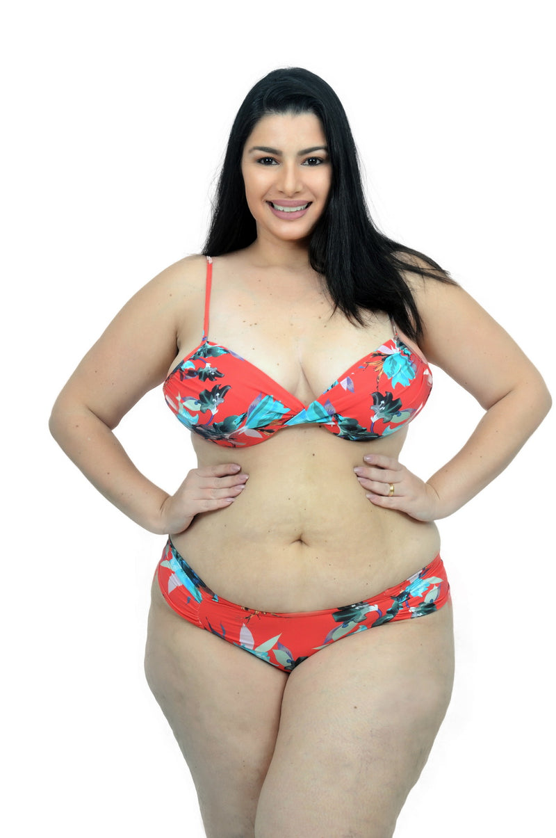 Biquini Galaxy Floral Red - Fashion Bikini Rio