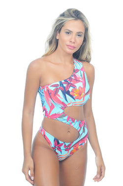 Maiô Singular Blue Flower - Fashion Bikini Rio