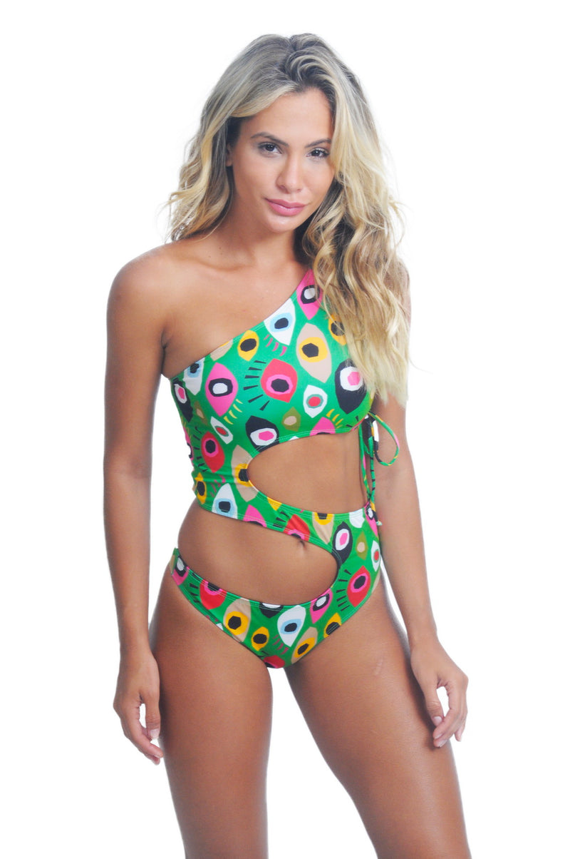 Maiô Singular Geo Eyes - Fashion Bikini Rio