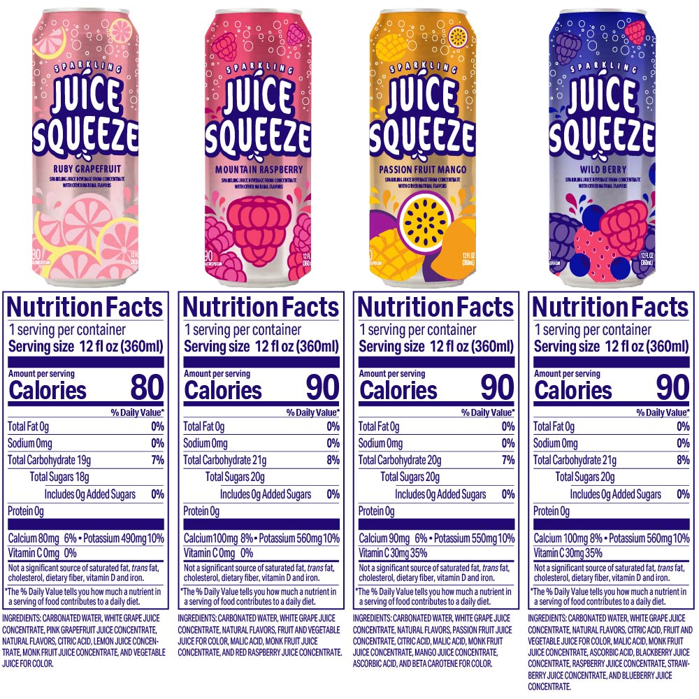 variety pack nutritional panel