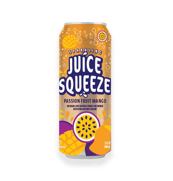 Juice Squeeze Passion Fruit Mango Single Can