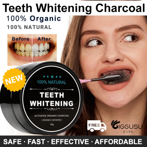 All Organic Activated Charcoal Teeth Powder (Premium)