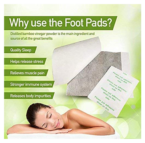 Get rid of Toxins and Maintain Beauty/Health with Herbal Foot Pads (Set of 10)