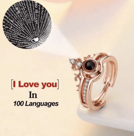 Say 'Love You' in 100 Languages - Adjustable size