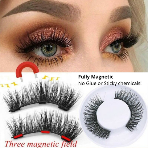 Swift Reusable Eyelashes Set - Stick with Power of Magnets