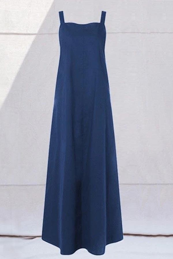 Solid Casual Sleeveless Double Wear Maxi Dress