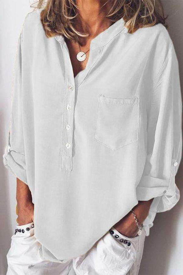 Spring\Summer Chiffon Blouses Long Sleeve - Regocy