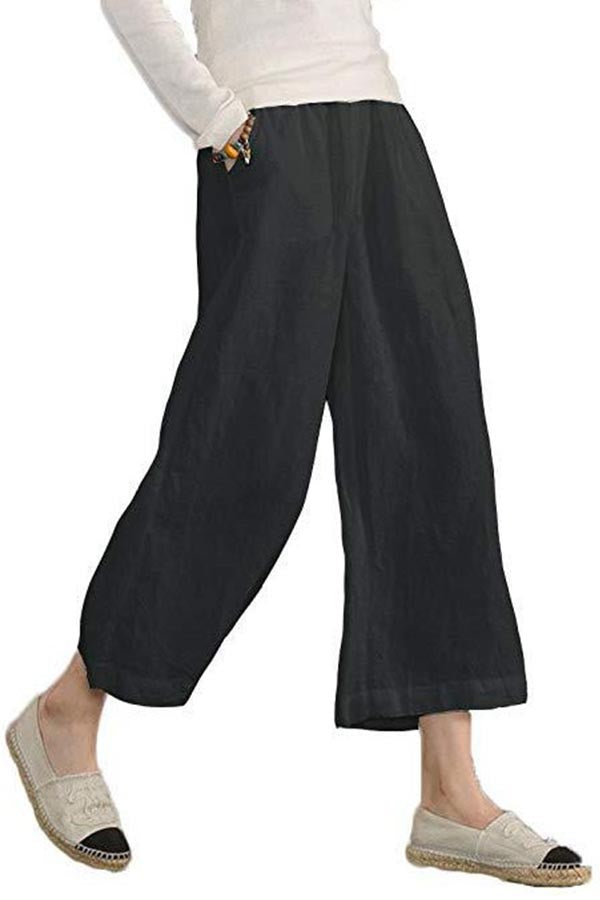 Casual Solid Pants with Pockets