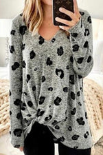 Casual Floral Printed Long Sleeves T-shirt