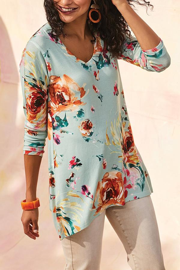 Unpositioned Printing  Casual T Shirt