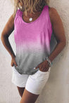 Gradient Scoop Neck Casual Tank top - Regocy