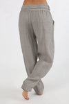 Solid Linen Self-tie Pants - Regocy