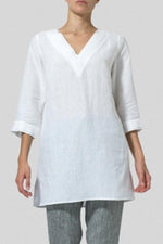 V Neck Loose 3/4 Sleeves Casual T-shirts