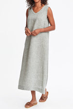 Casual Pocket Sleeveless Maxi Dress