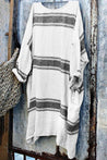 Casual Scoop Neck Stripe Loose Tee - Regocy