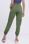 Solid Side Pockets Self-tie Foot-binding Pants