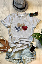 Casual Print Heart Short Sleeves T-shirts