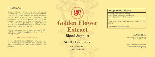 Golden Flower Extract - Blood Support