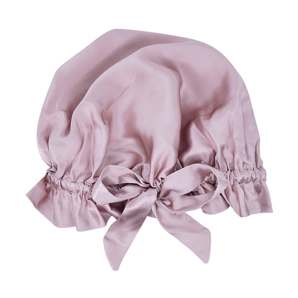Olesilk 19 Momme Light Plum Mulberry Silk Sleep Cap Hair Beauty Orgainc Silk Bonnet