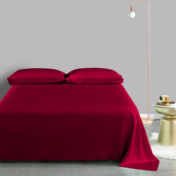Olesilk 22 Momme 4 Pieces Silk Sheet Set 100% Pure Mulberry Silk Bedding Set  ( 1 Flat Sheet + 1 Fitted Sheet + 2 Oxford Pillowcases)