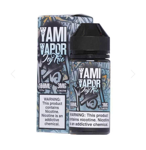 YAMI VAPOR ICY TRIO EJUICE 100ML - 3MG...