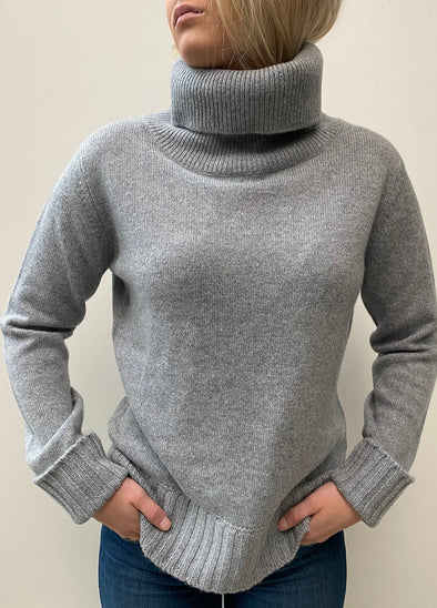 Smallmatters roll neck jumper - Grå