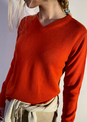 Smallmatters V neck jumper - Rød