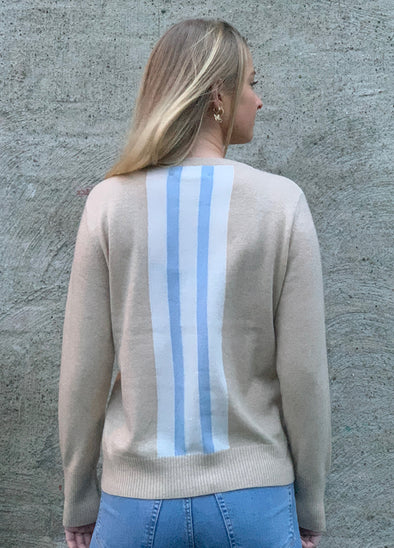 Round neck sweater - sand