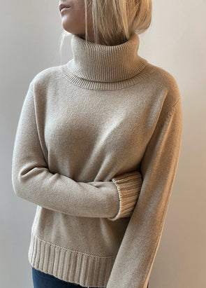 Smallmatters roll neck jumper - Sand
