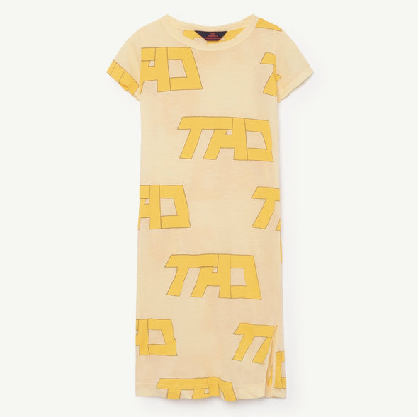 The Animals Observatory Gorilla Kids Dress (TAO) (Yellow) - TA-DA!